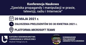 Konferencja: Zjawiska propagandy i manipulacji w prasie, telewizji, radiu i Internecie