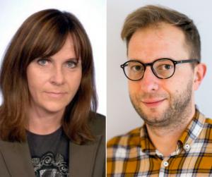 Alina Balczyńska-Kosman i Piotr Forecki z tytułami doktorów habilitowanych