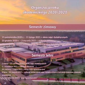 Organizacja roku akademickiego 2020/2021