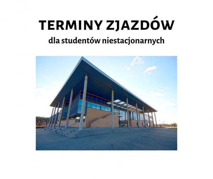 Terminy zjazdów dla studentów niestacjonarnych